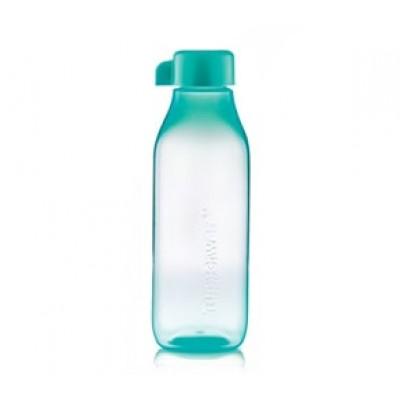 Эко-бутылка Квадратная 500 мл Tupperware бирюзовая прозрачная