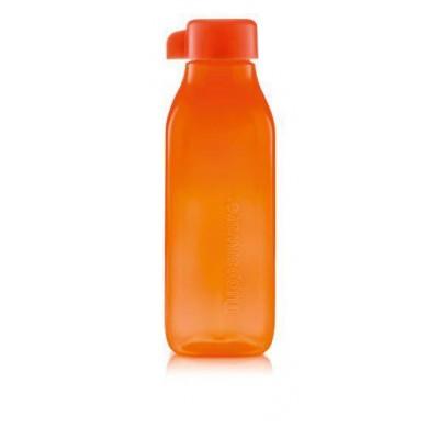 Эко-бутылка Квадратная 500 мл оранжевая