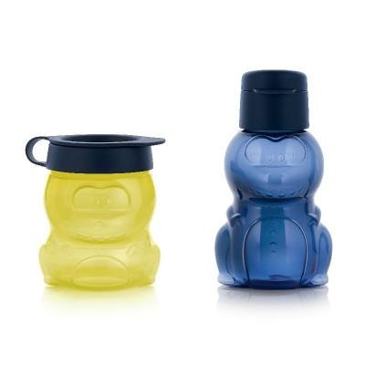 """Набор """"Динозаврик"""": эко-бутылка (350 мл) и закусочный контейнер (350 мл)"""
