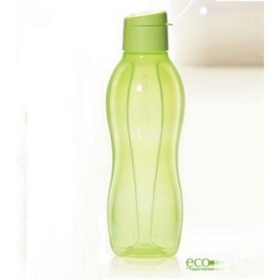 Эко-бутылка (1 л) в салатовом цвете с клапаном